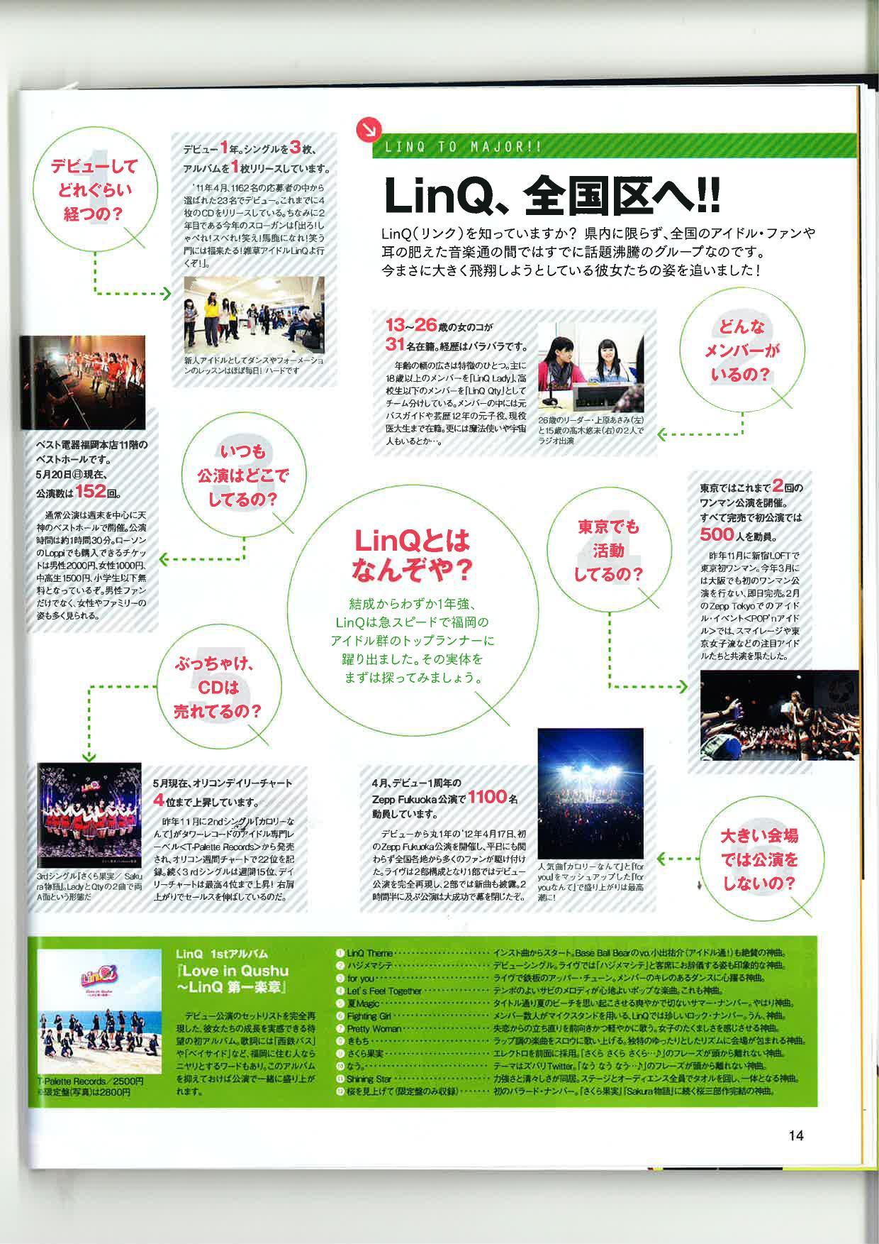 シティ情報ふくおか6月号 LinQ記事10001